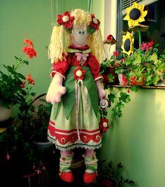 cloth   doll flower