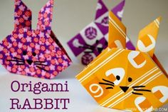 Another version of the origami rabbit in beautiful printed paper. We are going to make these tomorrow!