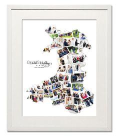 Wales Wedding, Honeymoon or Anniversary Collage