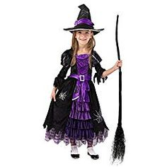 Spooktacular Creations Fairytale Witch Cute Witch Costume Deluxe Set for Girl. Fairytale Witch Cute Witch Costume includes Witch's Matching Hat and Full Skirted Dress. Kids Witch Halloween Costume, Toddler Witch Costumes, Cute Witch Costume, Boy Costumes, Witch Tutu, Little Girl Witch Costume, Family Costumes, Halloween 2020, Halloween Stuff