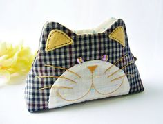 Your place to buy and sell all things handmade Cat Purse, Cat Bag, Coin Purse Pattern, Purse Patterns, Diy Arts And Crafts, Handmade Design, Small Bags, Special Gifts, Hand Embroidery