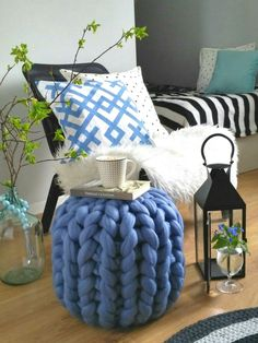 Merino wool pouf is excellent  for home decor