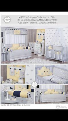 Chevron cinza , amarelo e azul marinho ! Combinação perfeita para o quarto do seu bebê! Paulinha Baby!