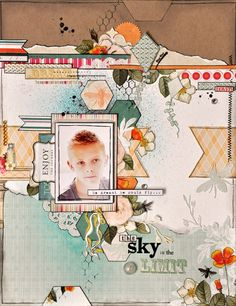 Layout by Emma Trout for Webster's Pages. Amazing layering!