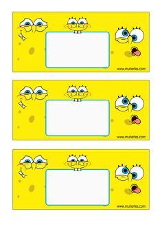 Imprimibles Bob Esponja - www.susaneda.com