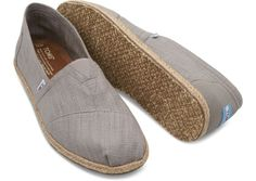 For those guys who pass on linen pants but still love the look.   TOMS Grey Linen Men's Classics
