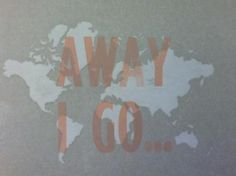 'away i go…'   letterpress print by maggie garrell    pressure print and wood type
