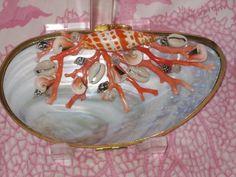 Coral shell clutch by Robin Grubman Grubm5@yahoo.com