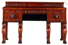 Mahogany sideboad table as imagined in the Reed's home