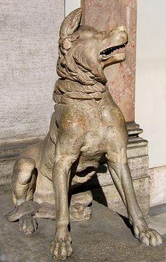 Molossian Hound, a dog celebrated in antiquity (see Vergil, Georgics 3.405). Vatican Museum, Rome. Credits: Ann Raia, 2005