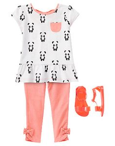 Toddler Girl's Playful Panda Outfit by Gymboree