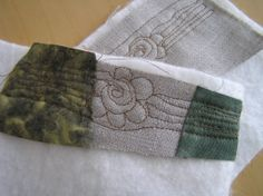 It was 8th March - The Women´s Day - when I started free motion quilting. Some flowers, ofcourse!