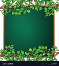 Wooden tree branch frame vector image on VectorStock Frame Border Design, Boarder Designs, Page Borders Design, School Board Decoration, Class Decoration, School Decorations, Kids Background, Flower Background Wallpaper, Flower Backgrounds