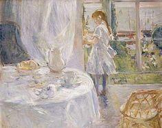 Interior de una cabaña, aceite de Berthe Morisot (1841-1895, Francia)