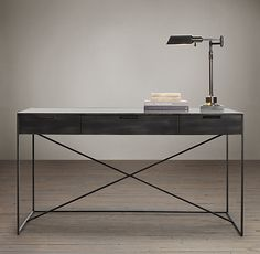 "$1195   56""W x 28""D x 31""H  Gramercy Mirrored Desk"