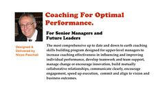 Foundational principles of coaching and skills building workshop