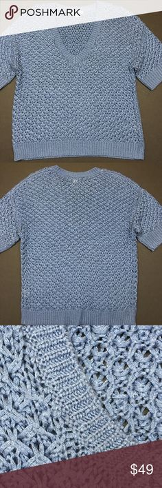 Caslon Light Blue Knit V-Neck Sweater Used in Excellent Condition/ No Trades/ No PayPal/ Smoke & Pet Free Home/ Please Ask Questions!/ Like what you see but the price too high? Make an offer! Caslon Sweaters V-Necks