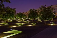 The National 9/11 Pentagon Memorial honors the 184 people whose lives were lost…