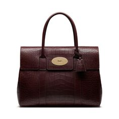 New Mulberry croc-embossed leather - Bayswater in Oxblood Deep Embossed Croc Print