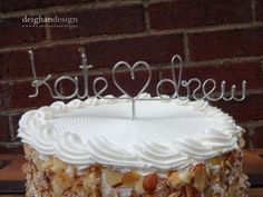 Custom Cake Topper  Wedding Cake Topper Wire by DeighanDesign, $28.00 (Drew and Elise) like this a lot!