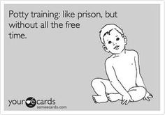 Meme on why potty training is like prison. Potty Training Humor, Free Time, Prison, Memes, Time Out, Meme