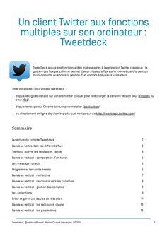 Tweetdeck tutoriel pas à pas