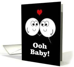 Egg and Sperm Meet -Pregnancy Announcement/We're Pregnant card