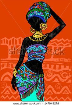 Find Hand Drawn Illustration Beautiful Black Womanafrican stock images in HD and millions of other royalty-free stock photos, illustrations and vectors in the Shutterstock collection. Thousands of new, high-quality pictures added every day. African Drawings, African Art Paintings, African American Art, African Women, African Beauty, Afrika Tattoos, Afrique Art, Art Drawings, Art Sketches