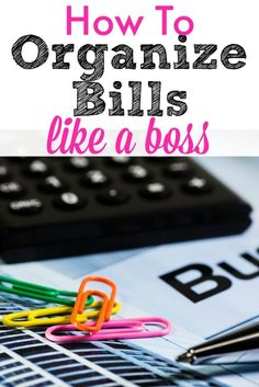 How to organize bills so you can save money each month. Money management tips that will help you master your budget like a boss! Financial Organization, Bill Organization, Organizing Ideas, Household Organization, Budgeting Finances, Budgeting Tips, Saving Ideas, Money Saving Tips, Money Tips