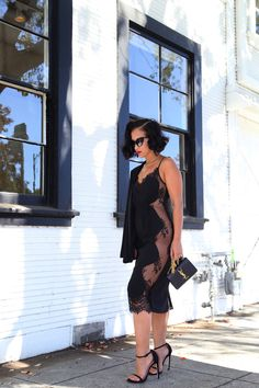 KTRStyle Dress: KTRcollection For Love and Lace dress | Shoes: Stuart Weitzman nudist sandals | bag: YSL mini crossbody | Glasses: Tom Ford cateyes. Fashion Blogger and Designer