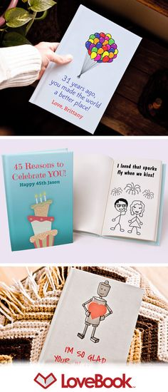 An adorable gift idea that lets you say exactly why you love him. Author your own personalized book of love reasons. Each pages lists a different reason and is illustrated with your characters. Guaranteed laughter and tears.