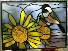 Chickadee - Delphi Stained Glass