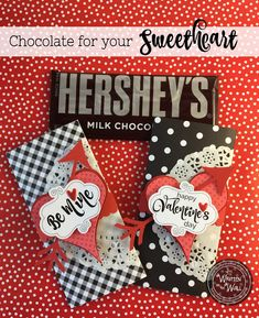 Valentine's Day Chocolates-Candy Bar Wrappers for Hershey Bars. For your Sweetheart (s) Comes in red too Valentines Day Chocolates, Valentine Chocolate, Valentine Treats, Valentines Day Party, Valentine Day Crafts, Love Valentines, Christmas Presents For Grandparents, Diy Christmas Presents, Hersheys