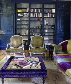 Purple reign living room from  little blue deer: Retro Ruche
