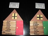 Presidents Day Cabins: Write words on popsicle sticks and have the children sort them into different categories. This can be a group or individual activity... - Re-pinned by @PediaStaff – Visit http://ht.ly/63sNt for all pediatric therapy pins