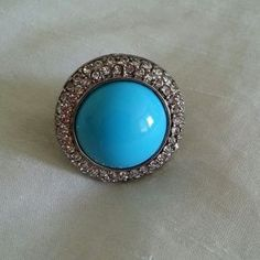 I just discovered this while shopping on Poshmark: REDUCED Turquoise and Diamond Statement Ring. Check it out!  Size: 8