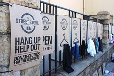 Sidewalk Pop-Up Store Offers Free Clothes To The Homeless