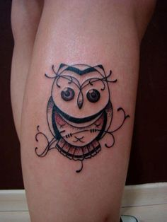 Delicate Owl tattoo