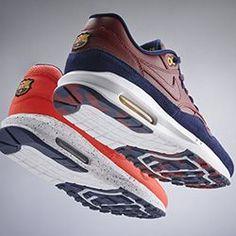 Custom GB Nike Air Max 1 FC Barcelona iD Shoe