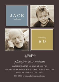 Adult Birthday Party Invitations - Select printing options and begin customizing your card for design 17517 75th Birthday Parties, Adult Birthday Party, 50th Birthday Party, Birthday Ideas, Birthday Memes, Surprise Birthday Invitations, Photo Invitations, Wedding Dj, Jello Desserts