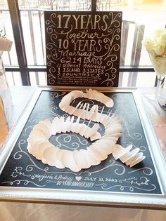 Anniversary idea...sweet for party or vow renewal