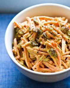 carrot tahini slaw