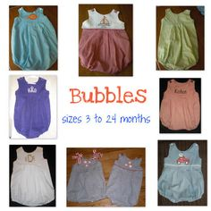 Baby Bubbles  Sizes 3 to 24 months by PigtailsandPatches on Etsy, $25.00