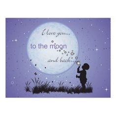 I Love You to the Moon and Back-Cards Postcards. Great in a frame on a wall of a nursery or a child's bedroom, or slip one in the bag of your grown up loved one as they go off into the world! Personalised Postcards, Custom Postcards, Purple Quotes, Create Your Own, Create Yourself, Love Moon, L Love You, Moon Print, Inspirational Gifts
