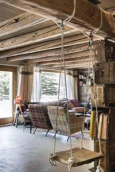 Stefano Scatà Food Lifestyle and Interiors photographer Chalet Catelier in Verrand,Courmayer Mountain House Decor, Mountain Homes, Porch Swing, Outdoor Furniture, Outdoor Decor, My Dream Home, Interior Decorating, Hospitality, Interiors