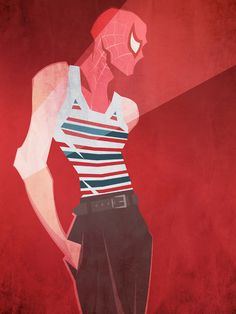 Spiderman in Dolce  Gabbana S/S 2013 by Peter McNierney Swide.Archives: Superheroes Project - Marvel Comics