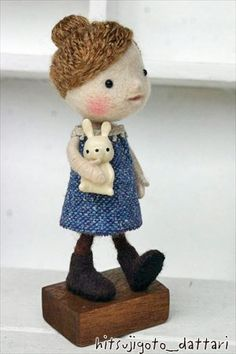 羊ごとだったり・・・ visit pinterest page of website to find cutesy felted animals and dolls