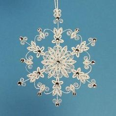 Fancy Quilled Snowflake Ornament | eBay by teri-71