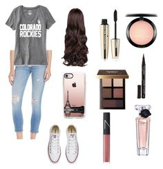 """""""Rockies game"""" by dancer0202 on Polyvore featuring rag & bone/JEAN, Old Navy, Converse, Casetify, MAC Cosmetics, L'Oréal Paris, Smith & Cult, Bobbi Brown Cosmetics, Lancôme and NARS Cosmetics"""
