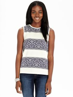 Old Navy | Women's Sleeveless Printed-Terry Tops